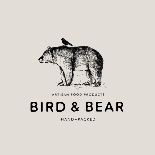 Logo for artisan food company, Bird & Bear