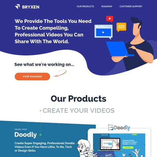 Bryxen Home Page Redesign