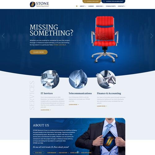 Responsive webdesign for IT recruitment company