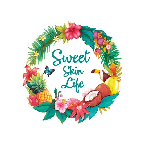 Colorful Logo for Sweet Skin Life