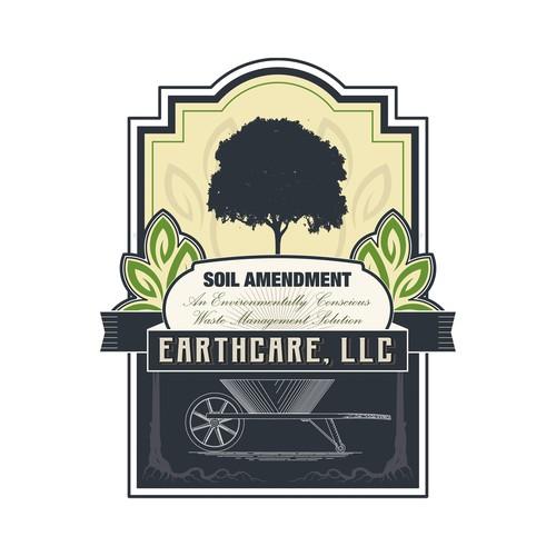 Classic logo for a soil amendment.