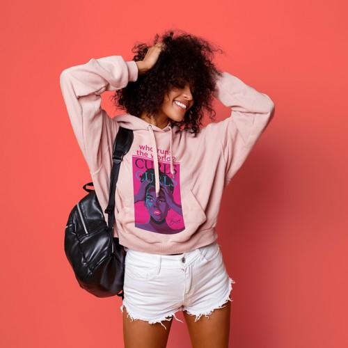 Curls hoodie design