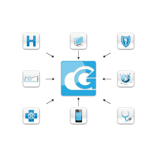 Create the next button or icon for G4 Health Systems, Inc
