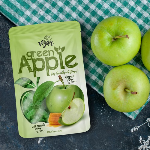Green Apple candy packaging