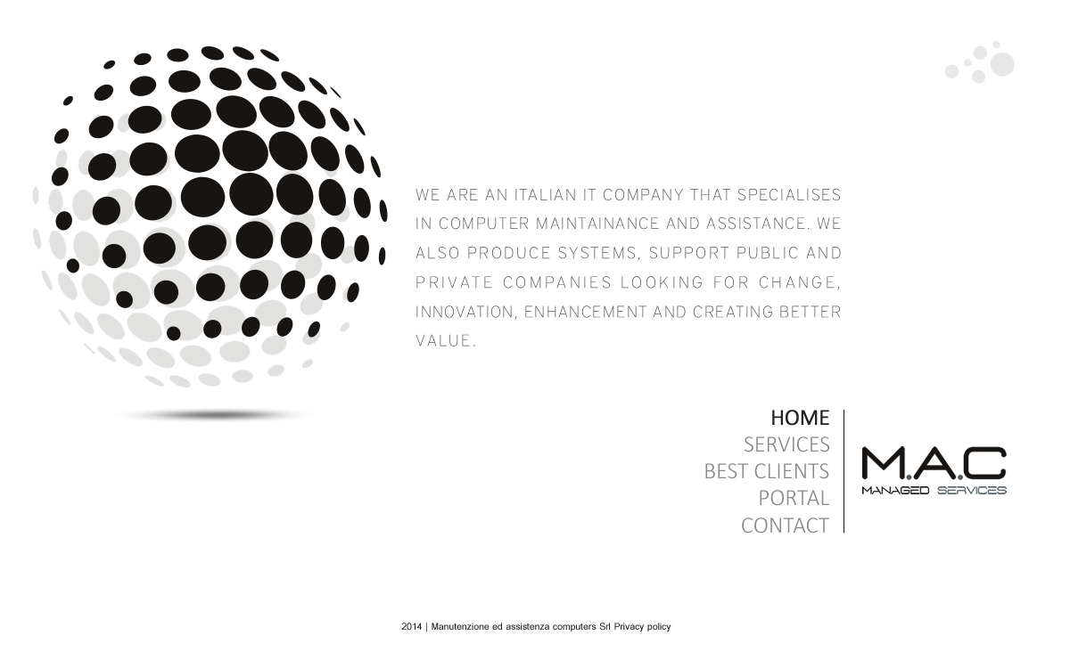 Outstanding Landing Page design for an IT management company, MAC! bigger web project follows!!
