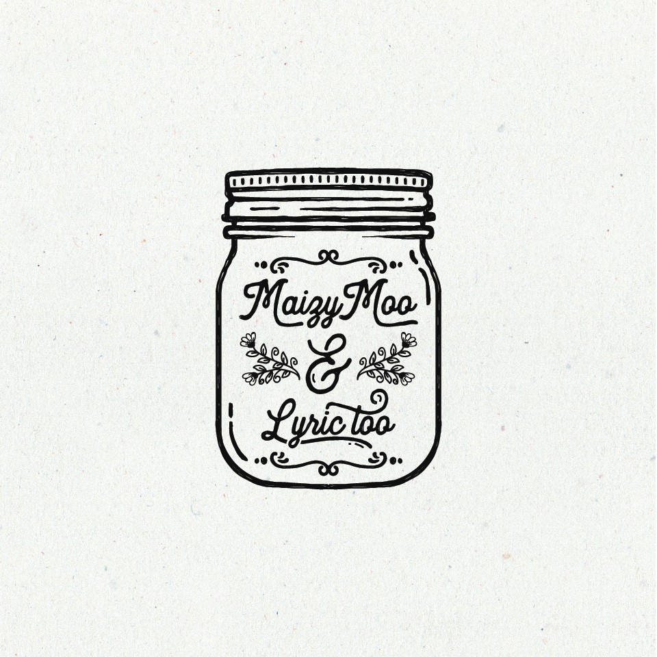 jar logo with vintage feminine motif