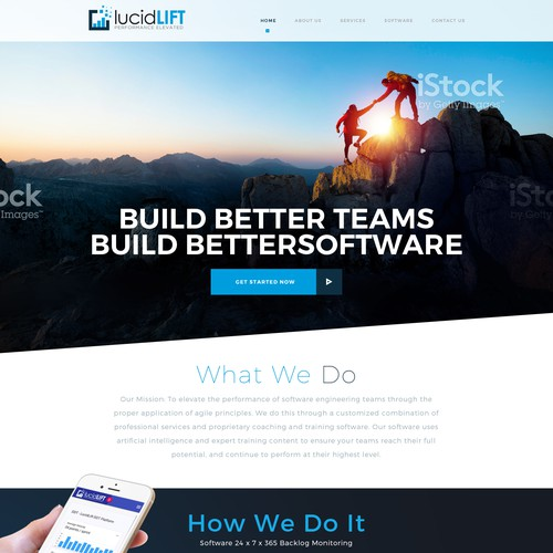 Webdesign for lucidLIFT
