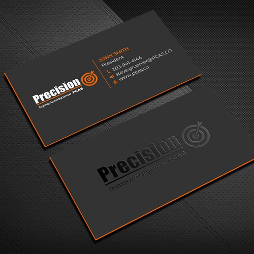 emboss business card design