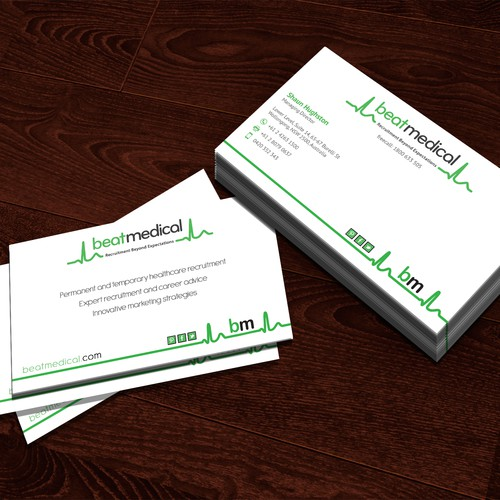 Business Card Design for Healthcare Recruitment Company