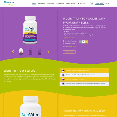 Vitamins Ecommerce Product Page