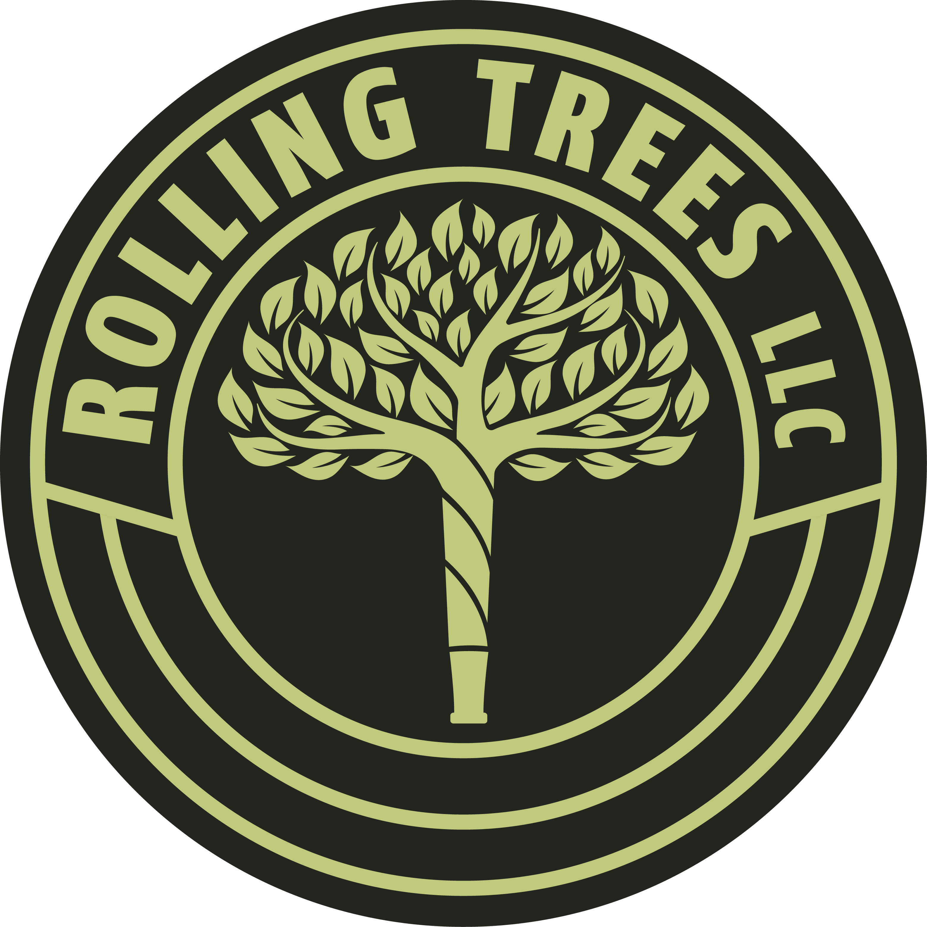 """Sign for CBD and hemp store called """"Rolling Trees"""""""