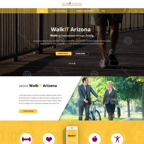 WalkIT Arizona Webpage Design