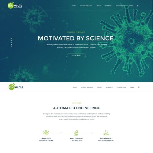 Science web site desing