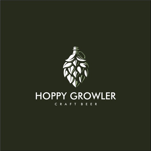 Hops + Growler logomark.