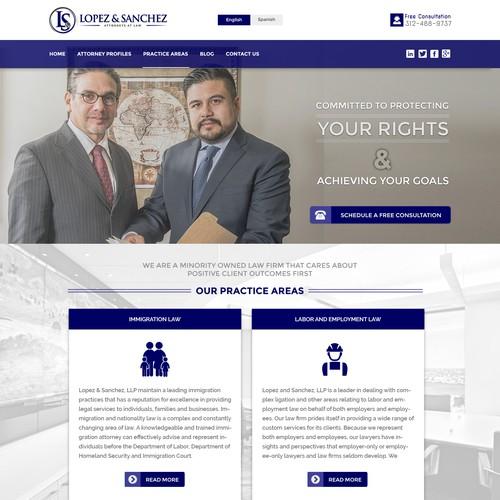 Attorney Lawyer HomePage Design