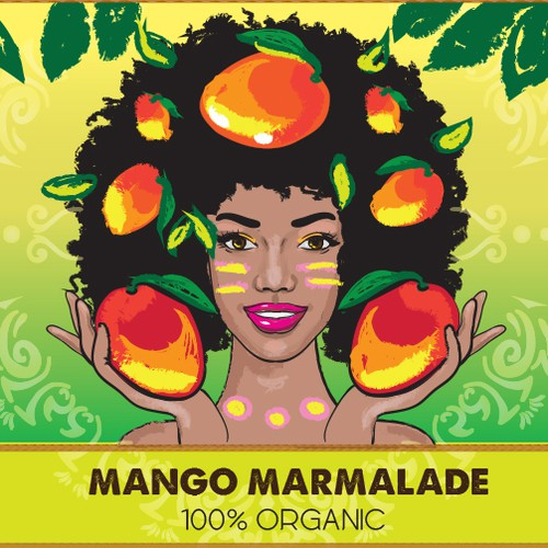 Design a tropical  mango jam