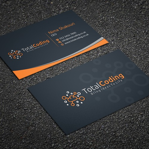 total coding needs business card