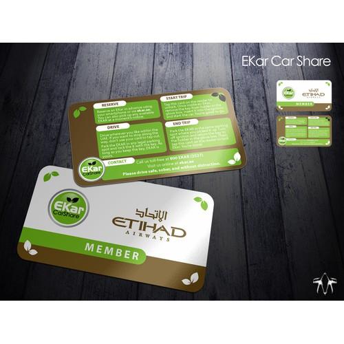 EKar Car Share member card