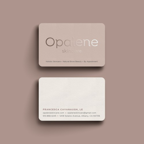 Minimal Business Card for skin care company