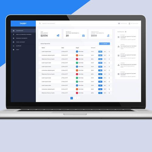 Payment desktop app design