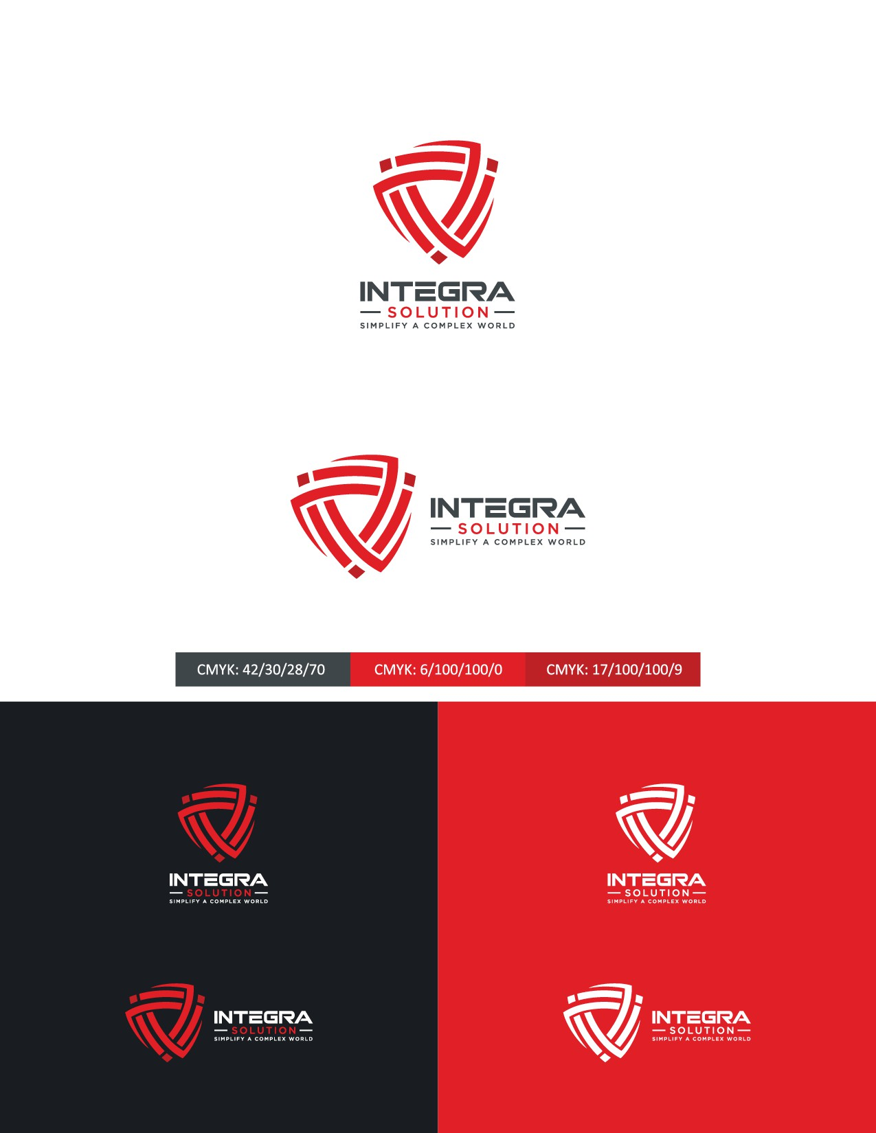 Logo Redesign for cyber-security company (resilience and integration)