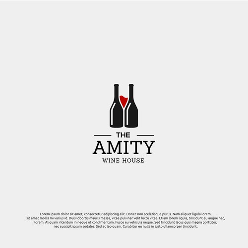 logo concept for amity wine house