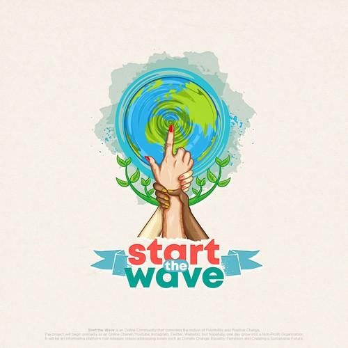 Start the Wave Logo Concept
