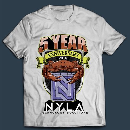 Company 5 year Anniversary T shirt 2018