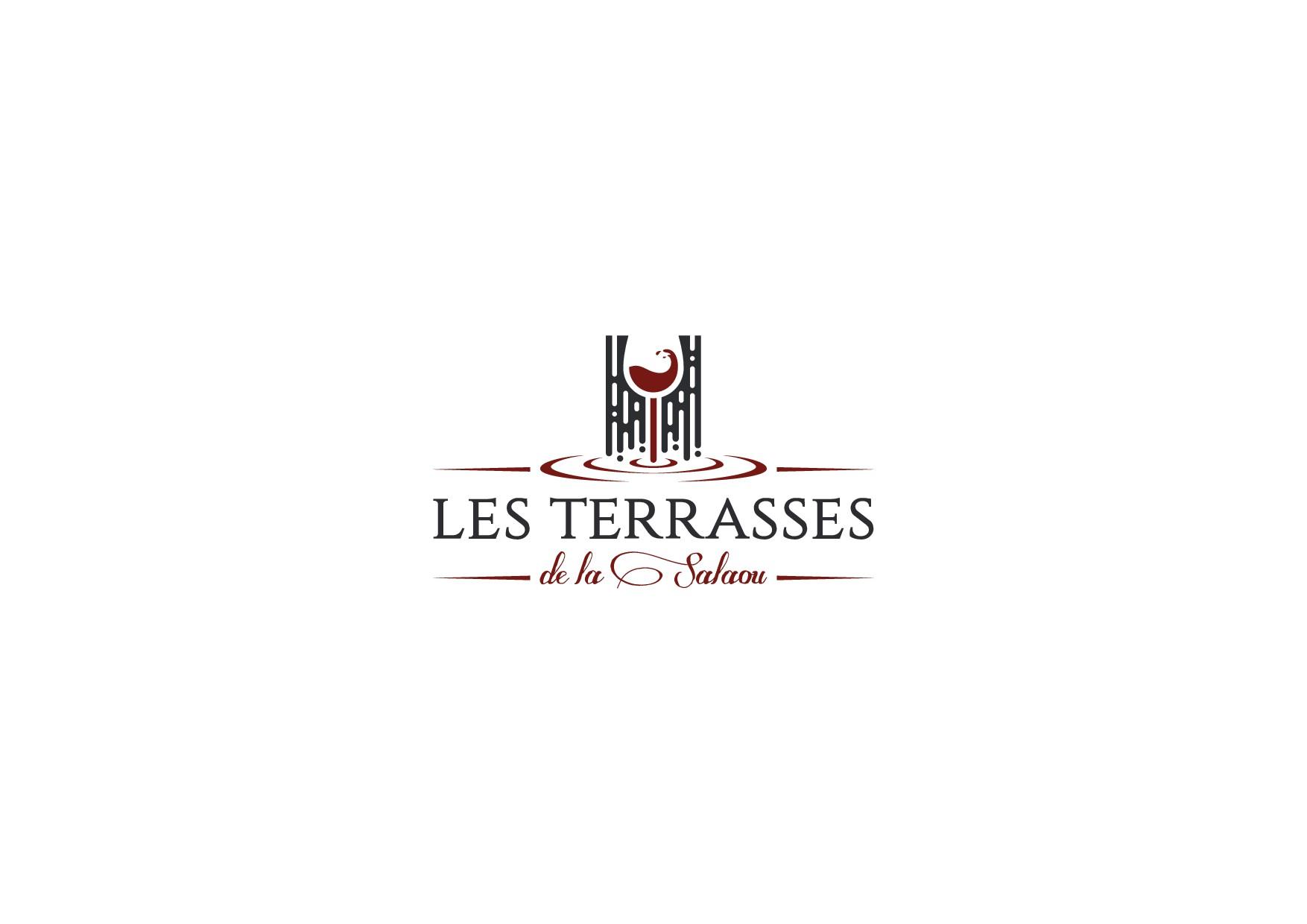 Logo Cascade pour enseigne découpe laser Domaine luxe