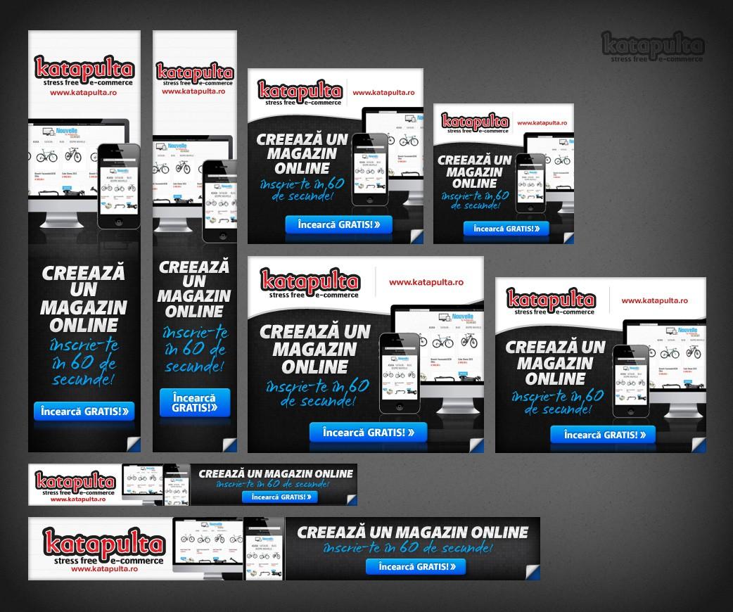 Banner ad for Katapulta.ro - stress free e-commerce