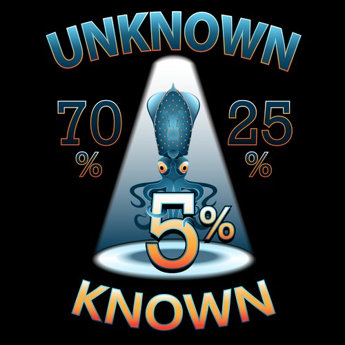 Tshirt Design to represent unknown knowledge of the universe