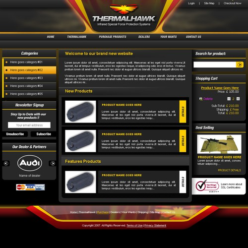 THERMALHAWK oscommerce site needed