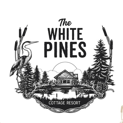 logo for The White Pines