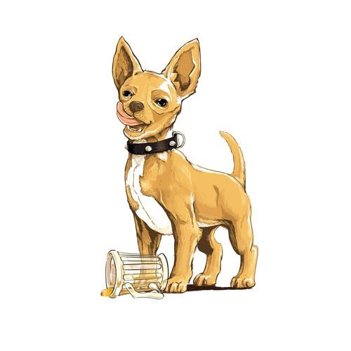 Standing Chihuahua Character