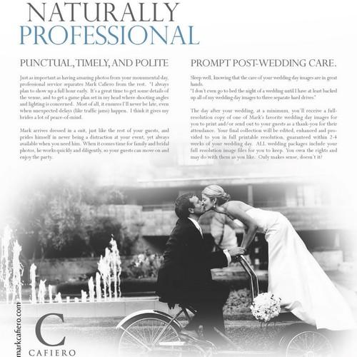 brochure design for Cafiero Photographers