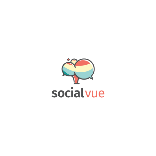 Playful logo for social-vue