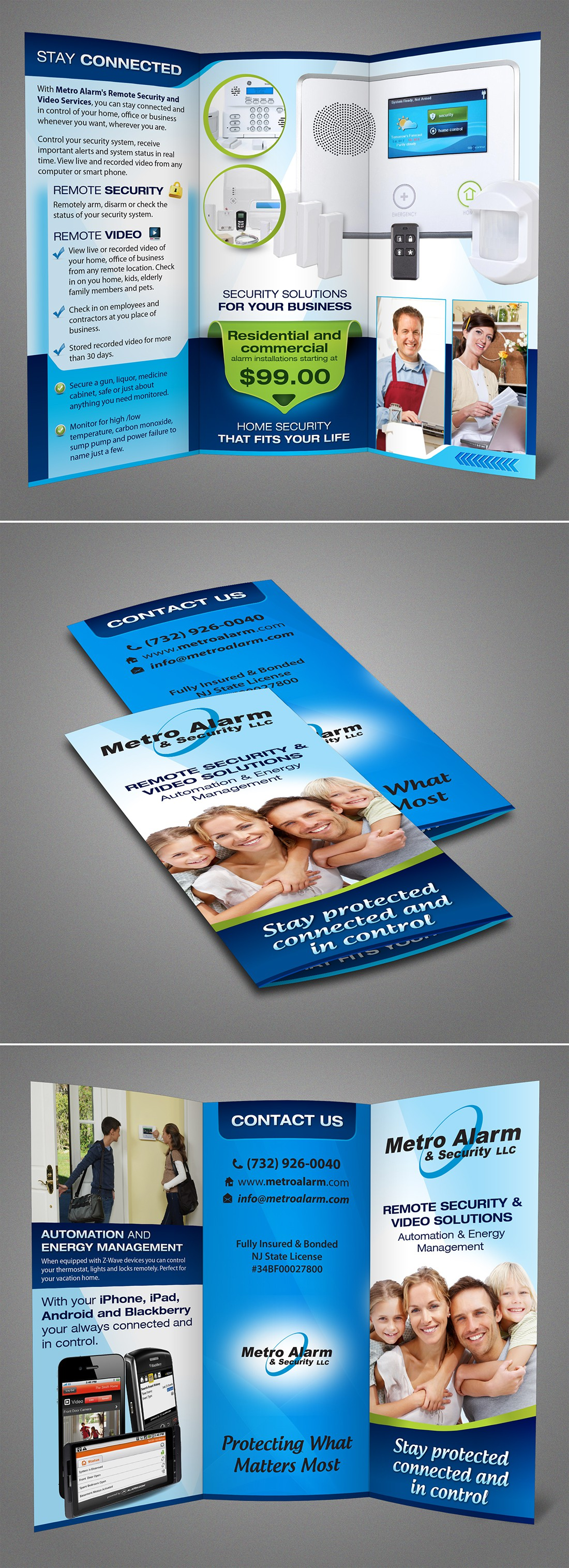 New brochure design wanted for Metro Alarm & Security LLC