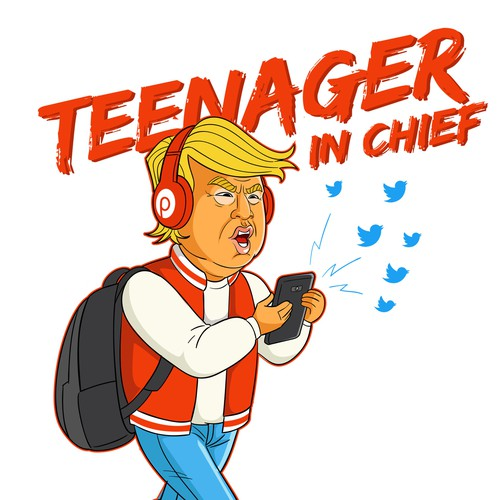 Teenager in chief Tshirt design