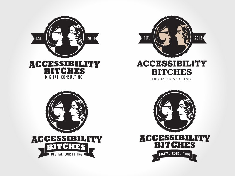 mad men style logo design needed for accessibility bitches
