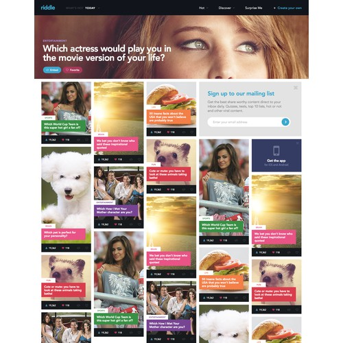 Homepage Design - Social Content Platform - Best Designers Only