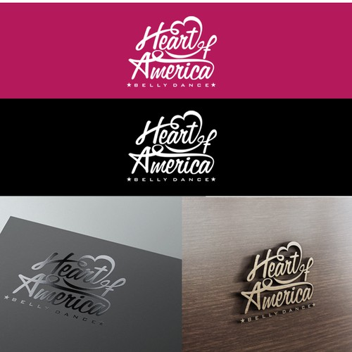 Create a captivating belly dance logo for Heart of America Belly Dance!