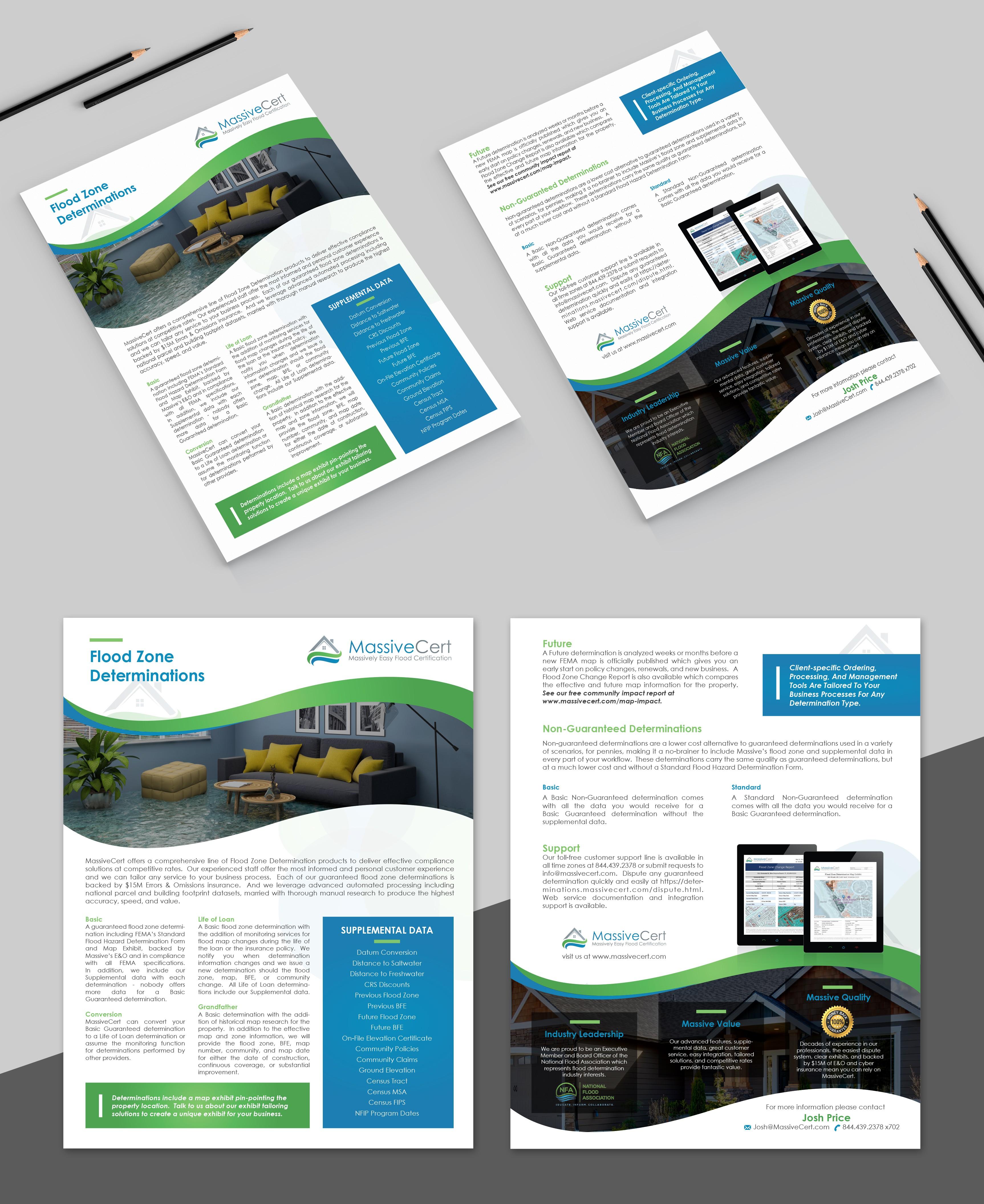 Start-up Flood Certification company needs brochure identity help
