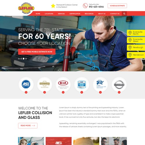 Automobile Engineer Website Design