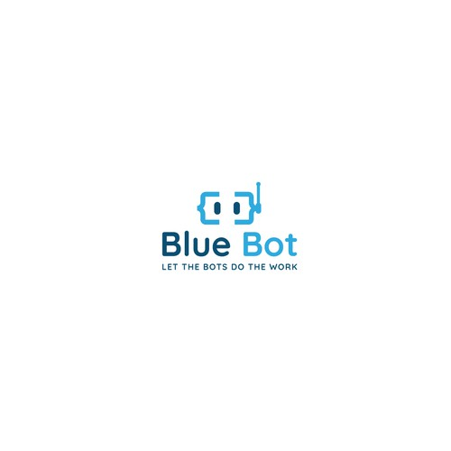 logo concept for Blue Bot
