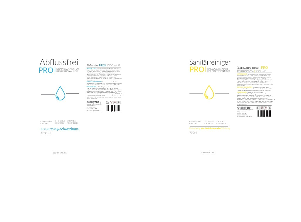 Etiketten-Design CLEANTEC