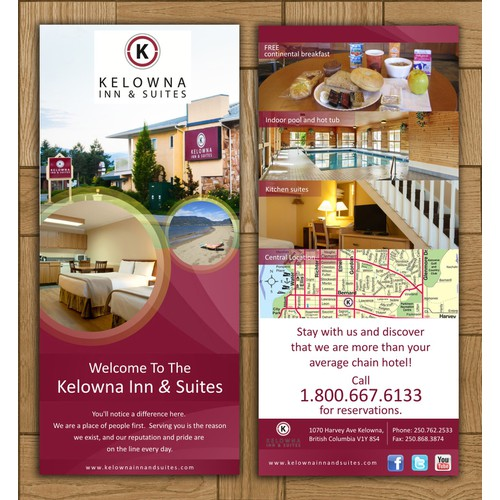 Kelowna Inn & Suites needs a new postcard or flyer