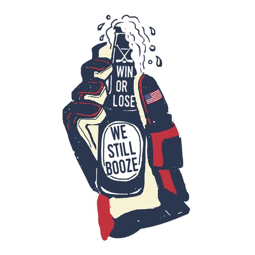 USA & Canada booze shirt illustration