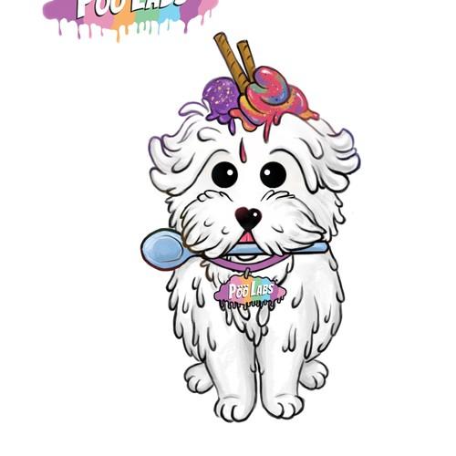 Create the cutest maltese terrier mascot for PööLabs