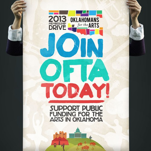 Create the next illustration or graphics for Oklahomans for the Arts