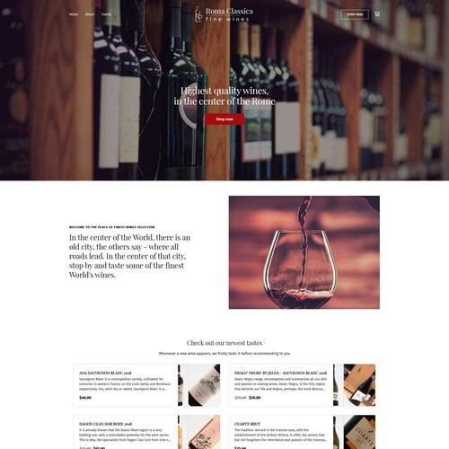 Fine Wines Inc - Square Online Store website